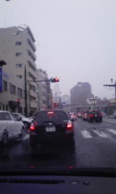 雨のなかの渋滞